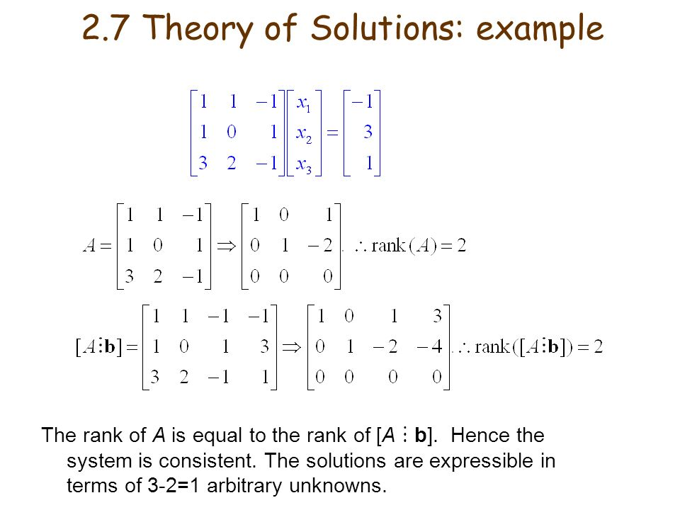 2.7 Theory of Solutions: example