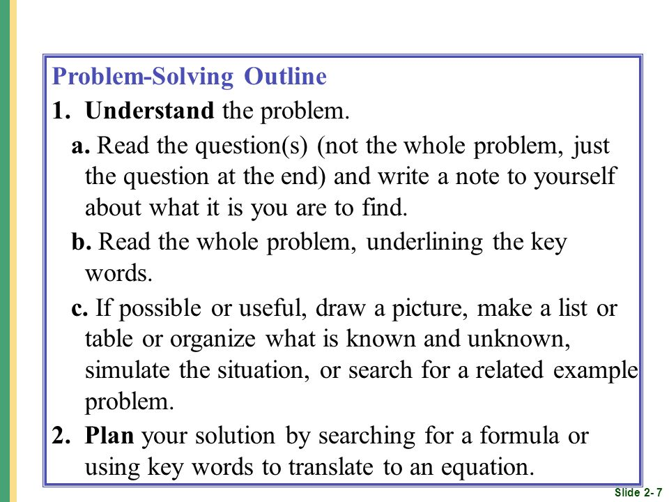 Standard 1: Make Sense of Problems & Persevere in Solving Them