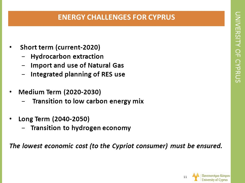 ENERGY CHALLENGES FOR CYPRUS