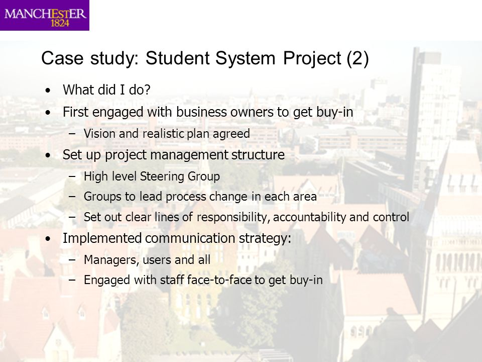 Case study: Student System Project (2)