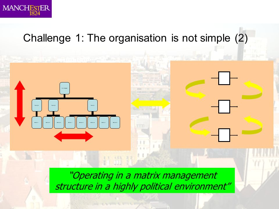 Challenge 1: The organisation is not simple (2)