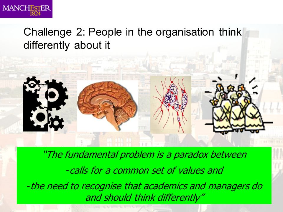 Challenge 2: People in the organisation think differently about it