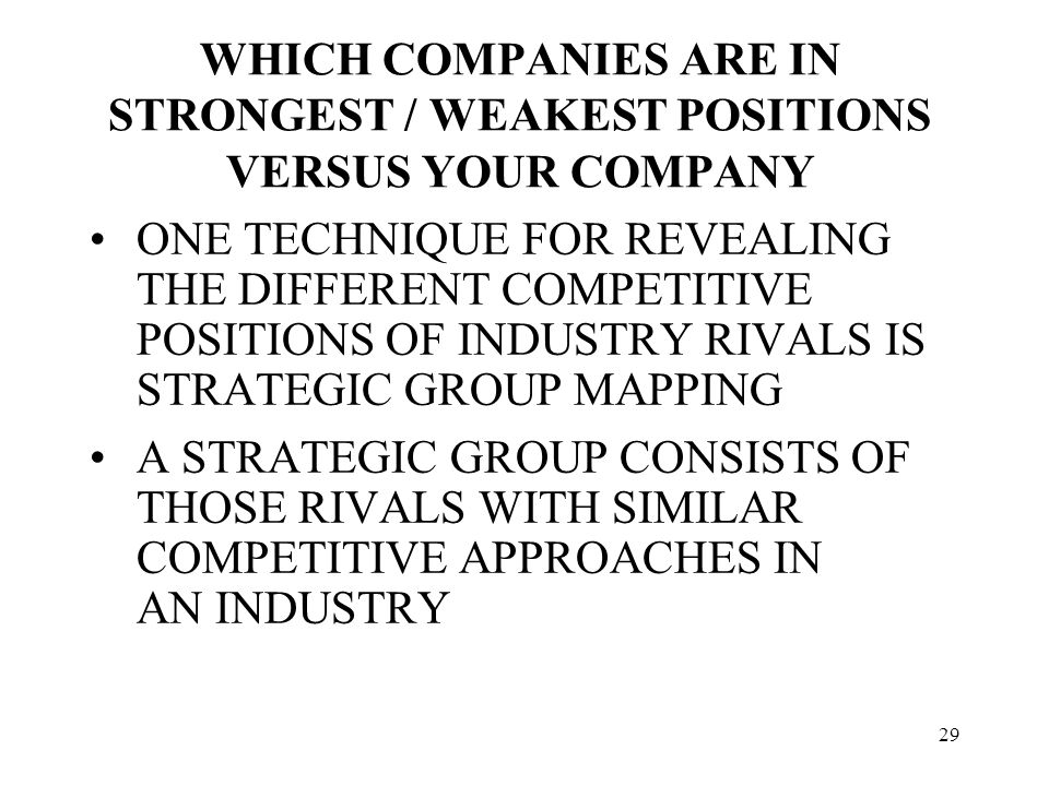 comparing two companies in the same industry 1 answer to compare two companies in the same industry chapters 3 and 5 presented below are condensed financial statements adapted from those of two actual companies competing as the.