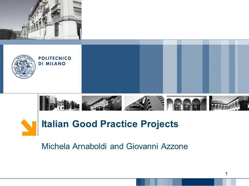 Italian Good Practice Projects Michela Arnaboldi and Giovanni Azzone