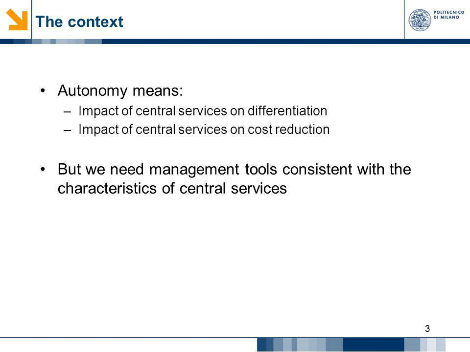 The context Autonomy means:
