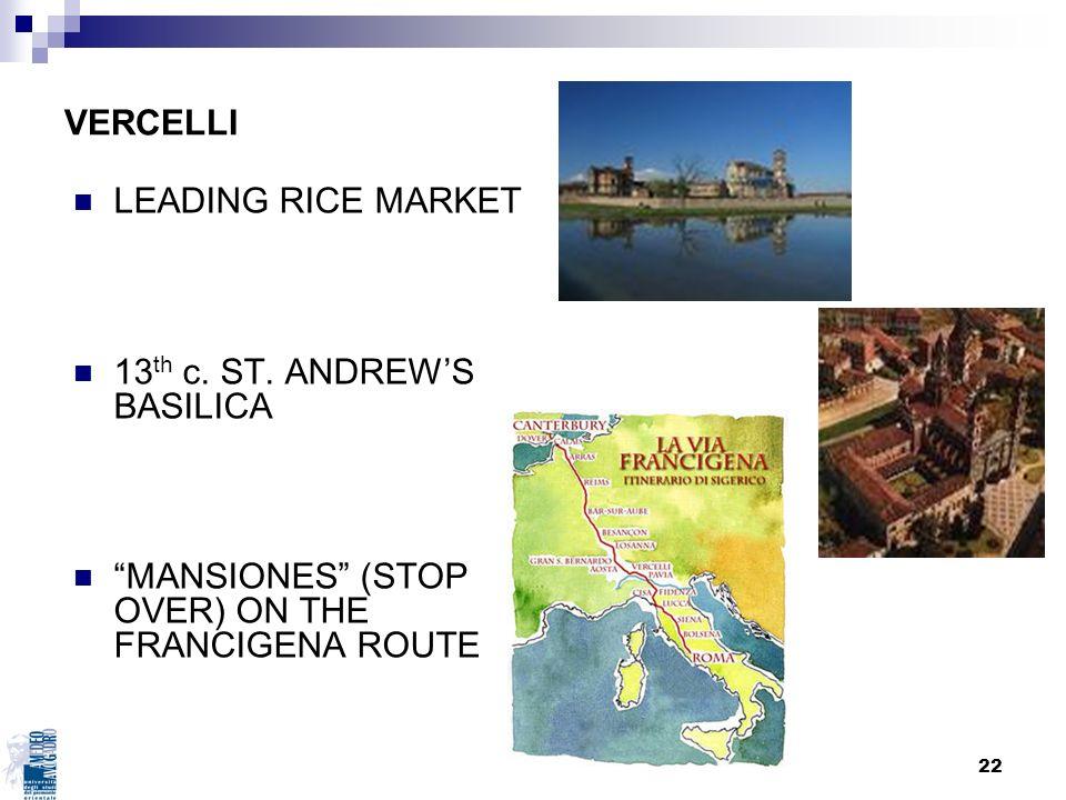 VERCELLI LEADING RICE MARKET. 13th c. ST. ANDREW'S BASILICA.