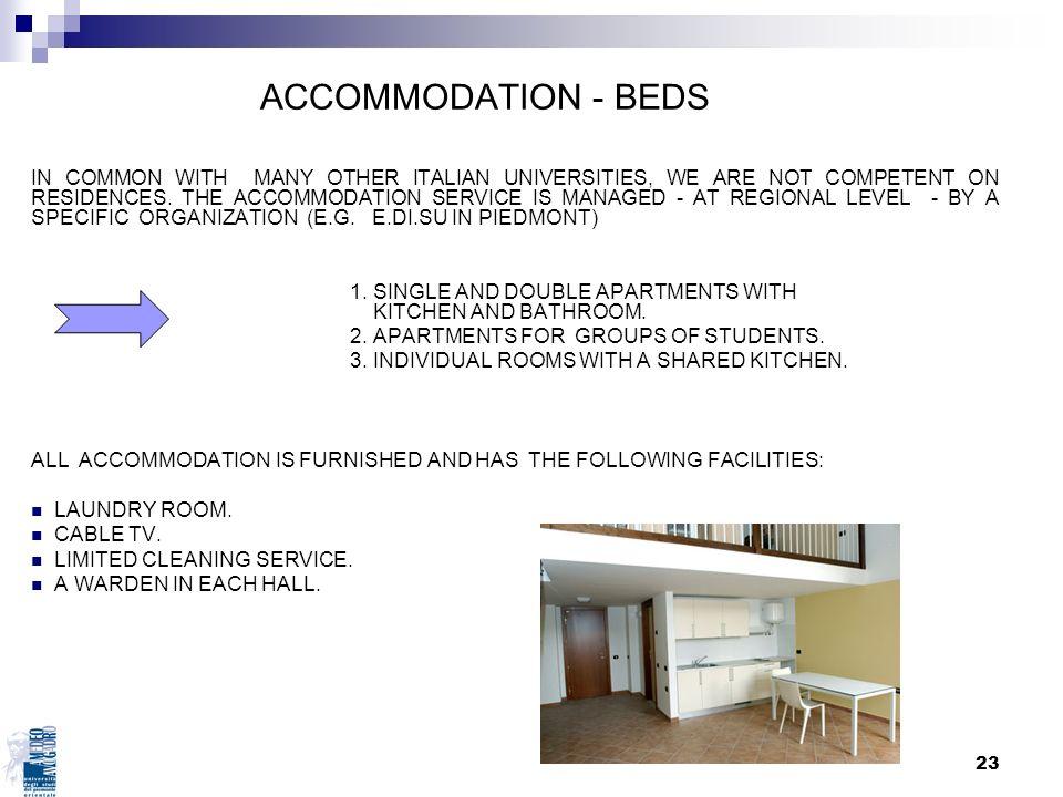 ACCOMMODATION - BEDS