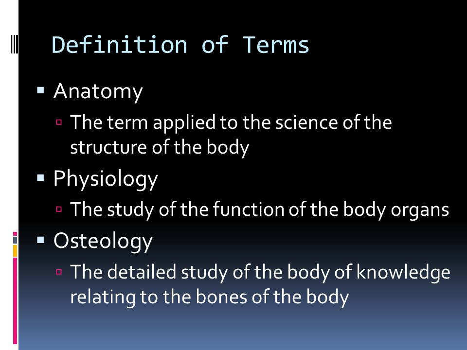 Ungewöhnlich Define The Terms Anatomy And Physiology Fotos ...