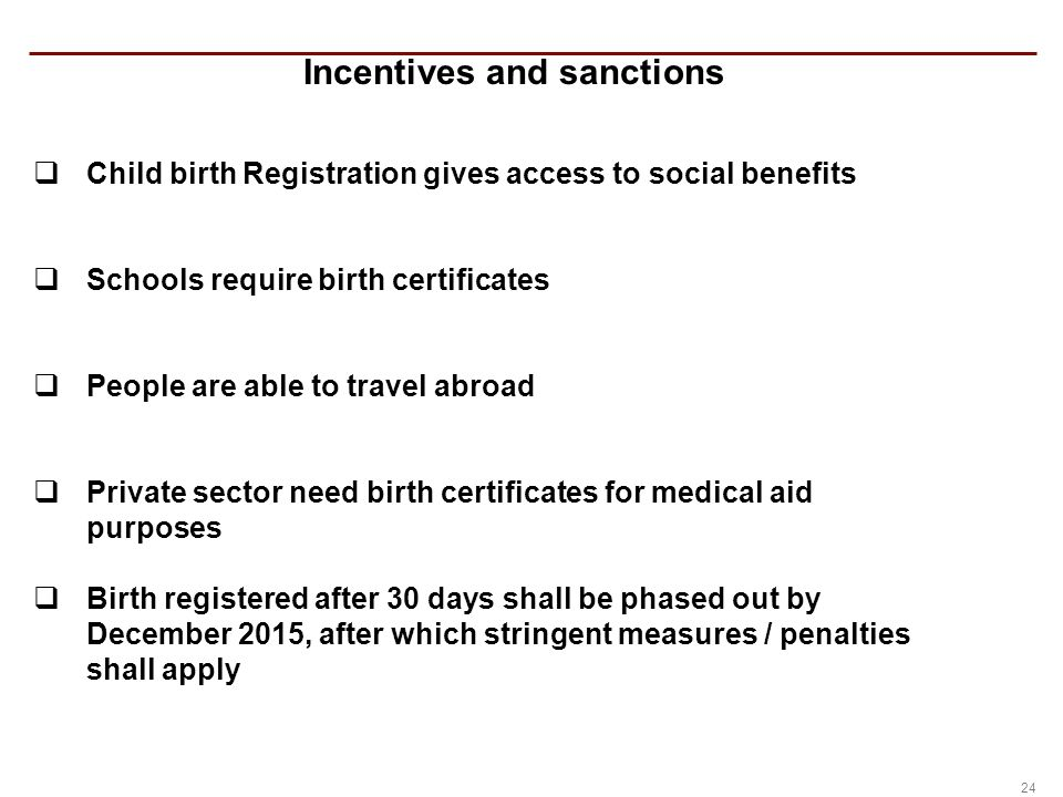 Civil registration in south africa ppt video online download 24 incentives and sanctions yadclub Image collections