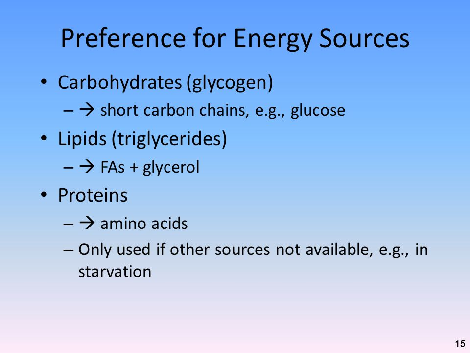 Preference for Energy Sources