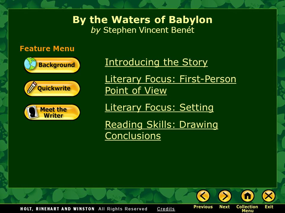 by the waters of babylon essay questions By the waters of babylon essays: over 180,000 by the waters of babylon essays, by the waters of babylon term papers, by the waters of babylon research paper, book reports 184 990 essays, term and research.