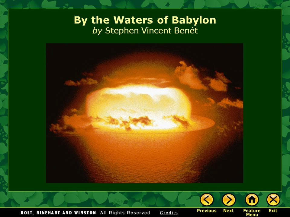 By the Waters of Babylon Analysis