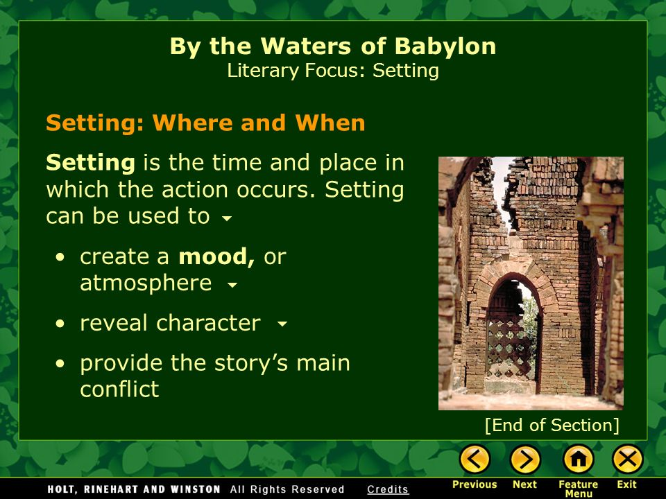 a comparison of by the waters of babylon by stephen vincent benet and planet of the apes by franklin By the waters of babylon author: stephen vincent benét the comparison of two unlike objects using like or as example from text: stephen vincent benet.