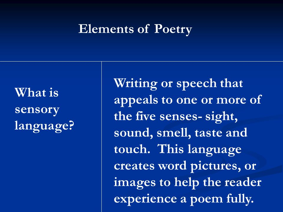 elements of poetry essay 3 4 conclusion in your concluding paragraph, recapitulate and summarize the argument—the thesis—that you have developed in your essay, and restate your thesis as the.