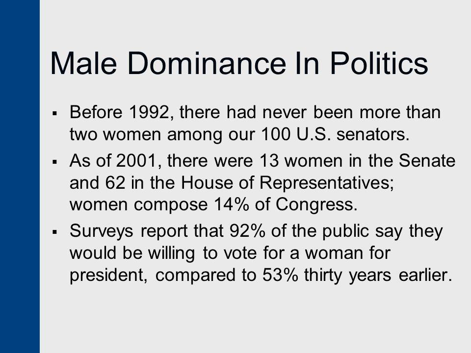 Male Dominance In Politics
