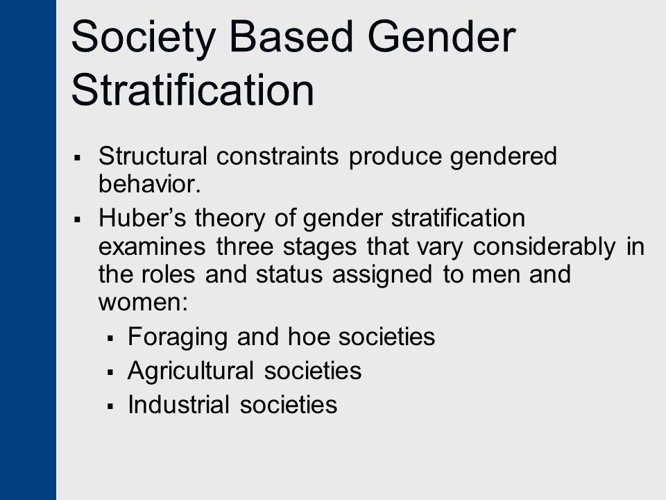 gender based theory For example, there is evidence to support the theory that wee increases risk of  gbv,  gbv is rooted in gender-based power inequalities and puts women at a .