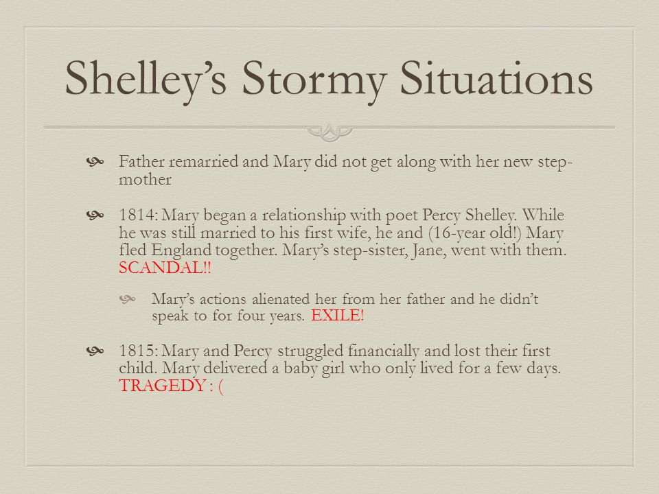 Shelley's Stormy Situations