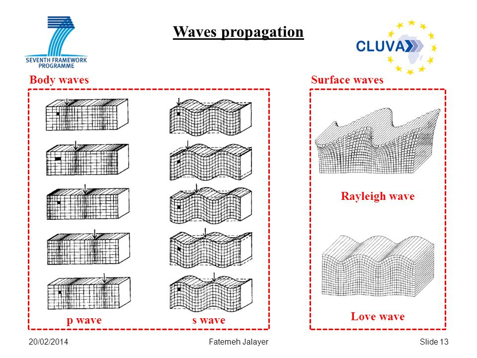 Waves propagation Body waves Surface waves Rayleigh wave Love wave
