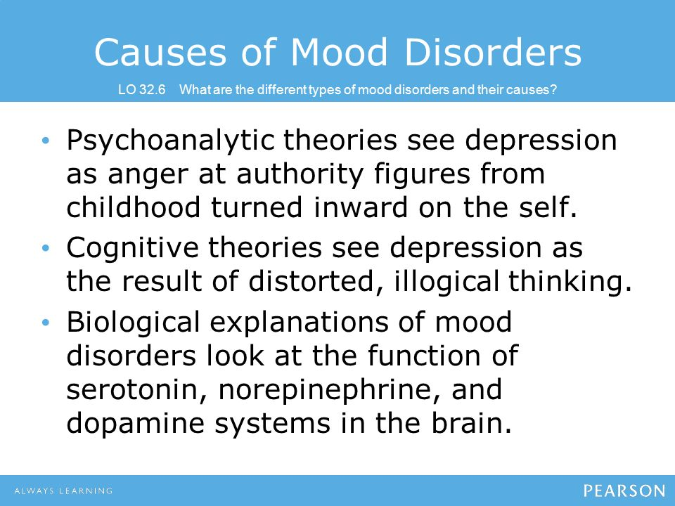 psychological causes of depression Psychological therapies for depression, for example, behavioural although the exact mechanism that causes depression is uncertain.