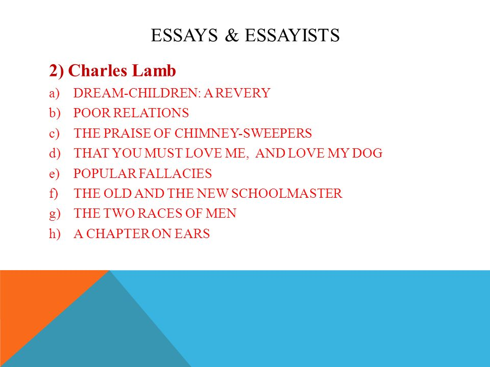 prose essays ppt video online  essays essayists 2 charles lamb dream children a revery