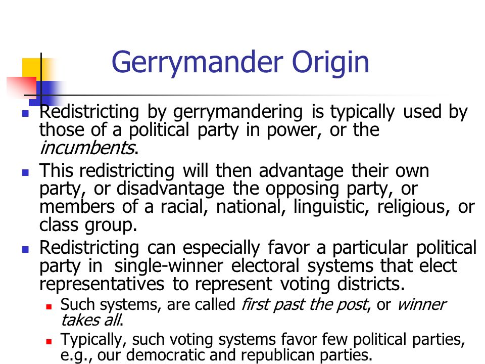 gerrymandering election and politicians Whitford, an upcoming supreme court case on gerrymandering in wisconsin   political corruption by providing public financing for elections.