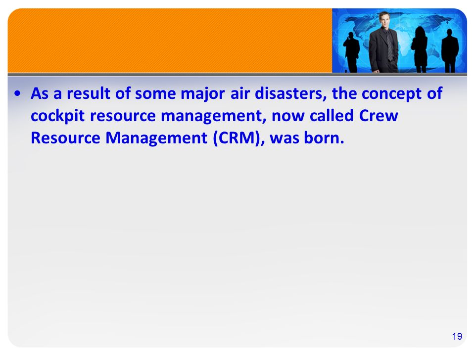 the significance and impact of the crew resource management crm Customer relationship management is the strongest and customer relationship management importance of lesser staff to manage and lesser resources to.