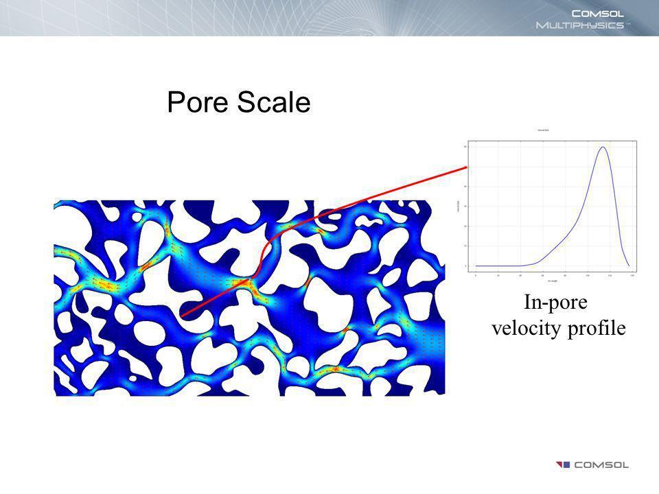 Pore Scale In-pore velocity profile
