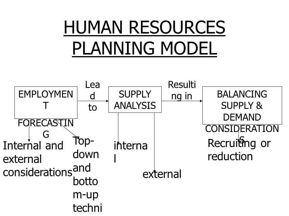 HUMAN RESOURCES PLANNING MODEL