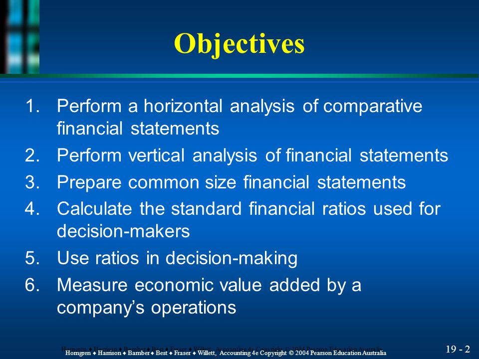 Comparative financial statement analysis of 3 companies