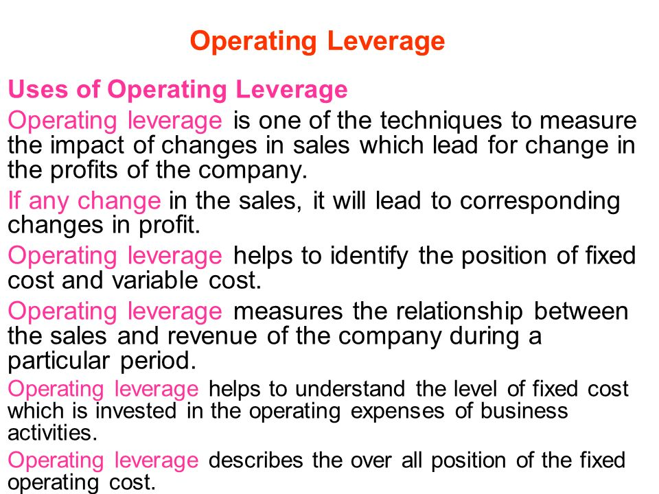 operating leverage Synonyms for leverage in free thesaurus antonyms for leverage 21 synonyms for leverage: influence, authority, pull, weight, rank, clout, purchasing power.