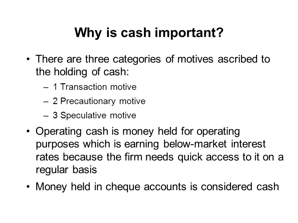 cash holdings working capital and firm Keywords: cash holdings, firm size, leverage, net working capital, sales growth, cash conversion cycle i introduction it is generally observed that companies having high investment opportunities in capital markets and.