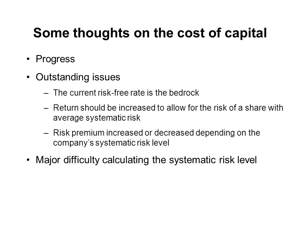 what are the problems faced in determining cost of capital From the investors' point of view, cost of capital is the rate of return, which investors expect from the capital invested by them in the organization.