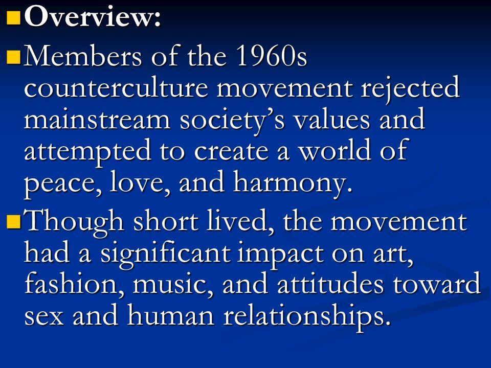The counterculture impact