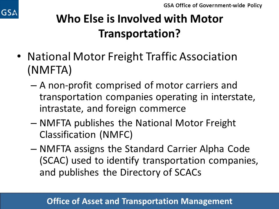Session 3 modes of transportation ppt download for National motor freight traffic association