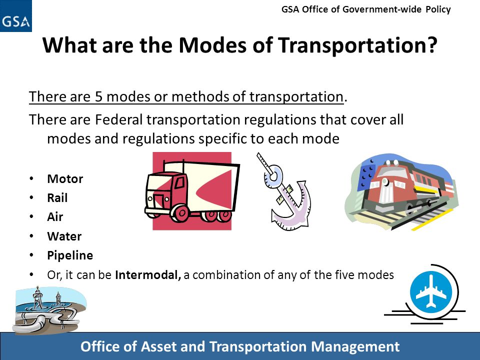 five modes of transportation Transportation is a means of moving goods and people from one location to the   the various modes of transportation in this country are: rail, water, road,.