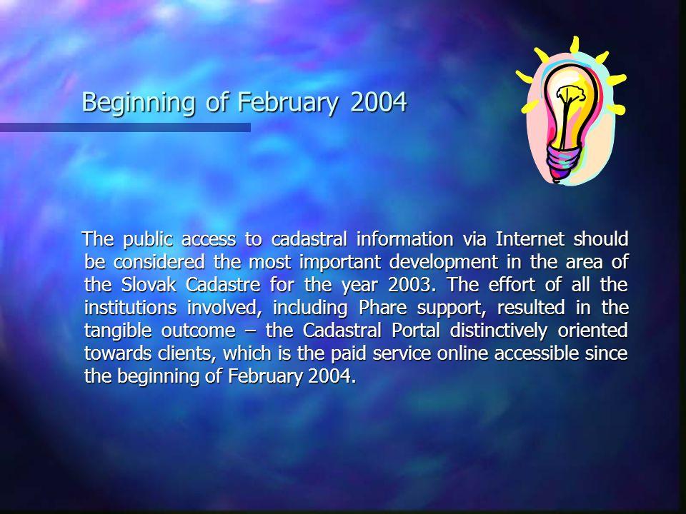 Beginning of February 2004