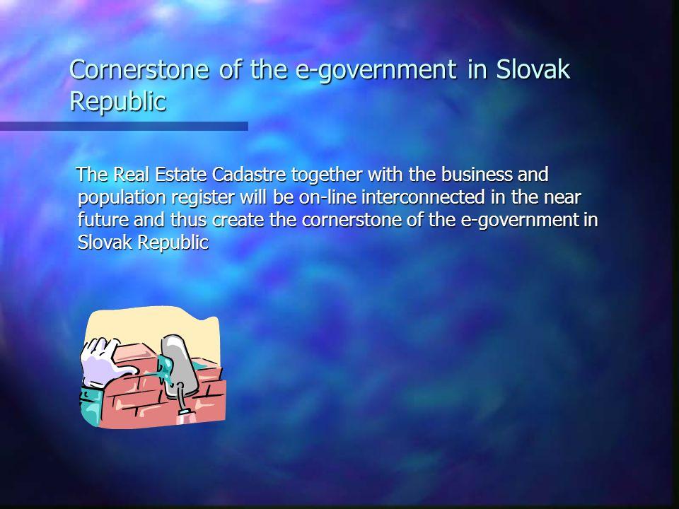 Cornerstone of the e-government in Slovak Republic