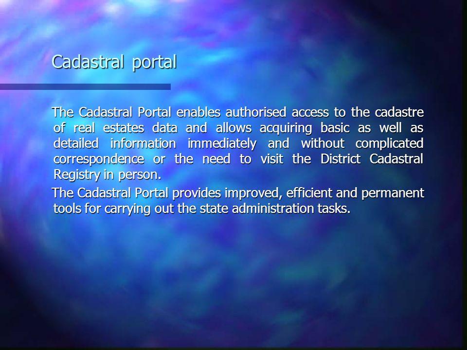Cadastral portal