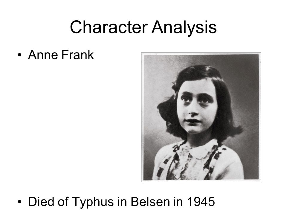 an analysis of anne from the diary of anne frank