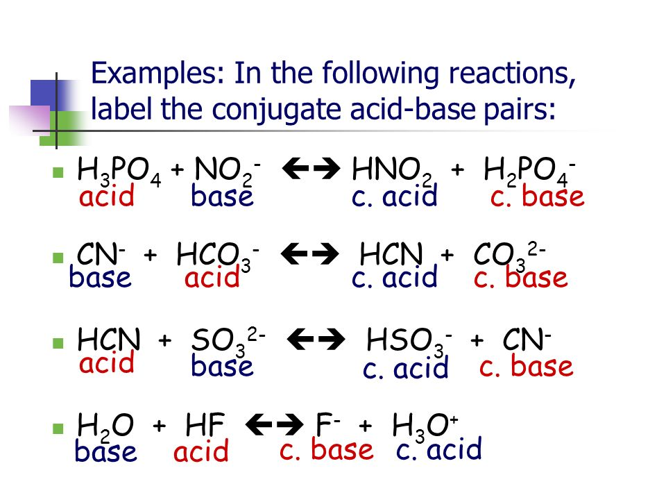 f e acid base Acid with values less than one are considered weak 3 the strong bases are listed at the bottom right of the table and get weaker as we move to the top of the table.