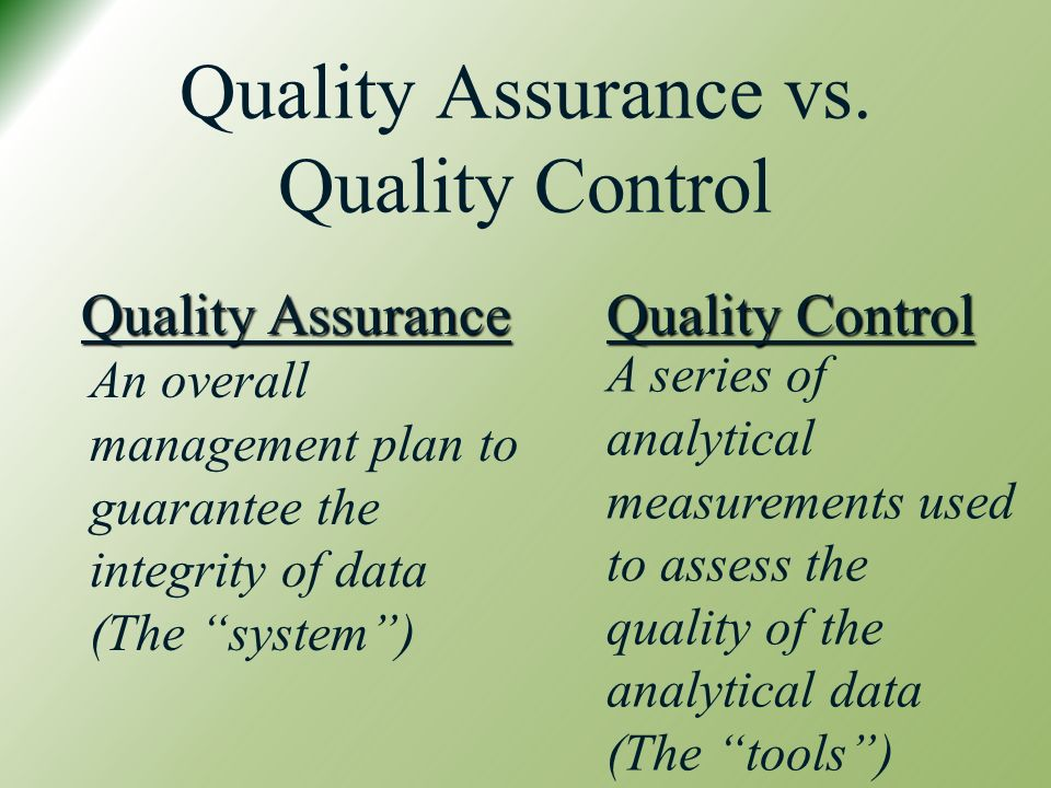 quality assurance vs testing vs quality Obviously, i have a silly peeve about mixing qa and test they're not the same thing i'm certainly not the first to bring this up ieee 12207.