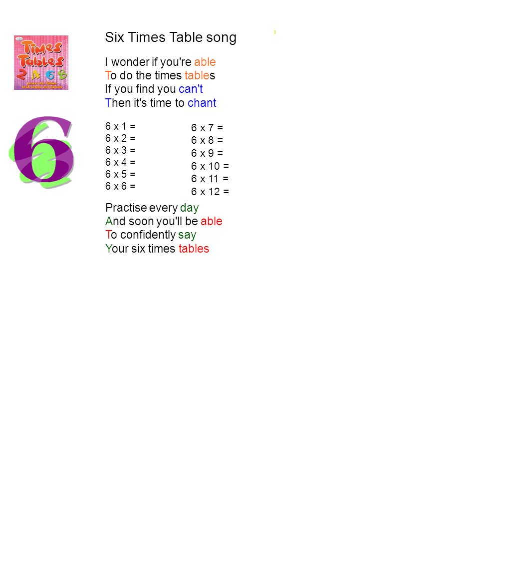 The 3ok song everything will be ok for we are in 3ok ppt for 10 times table song