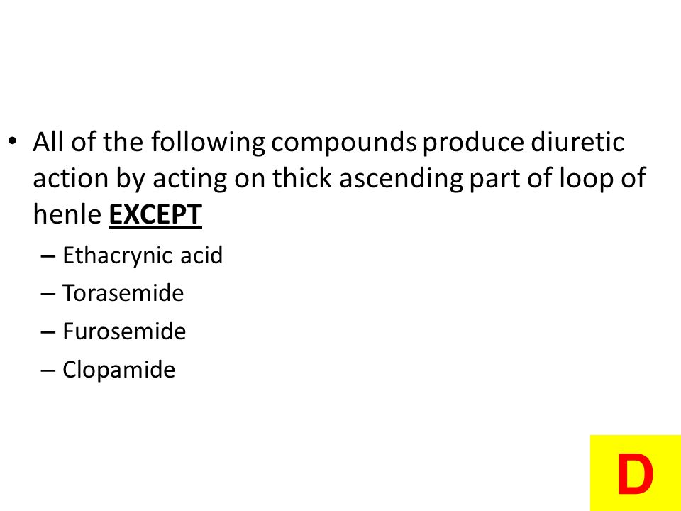 All of the following compounds produce diuretic action by acting on thick ascending part of loop of henle EXCEPT