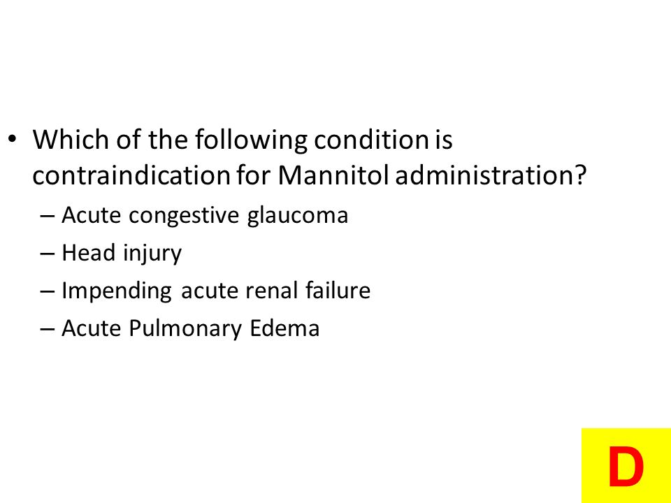 Which of the following condition is contraindication for Mannitol administration