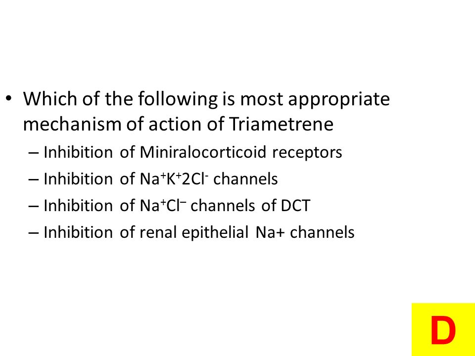 Which of the following is most appropriate mechanism of action of Triametrene