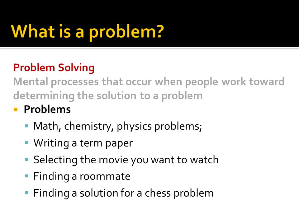 Problem Solution Research Paper