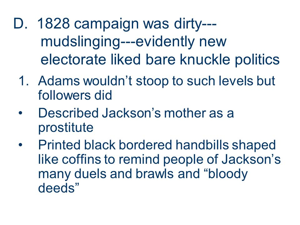 did the election of 1828 represent Some thoughts on  did the election of 1828 represent a democratic revolt of the people andrew jackson was born in 1767 in waxhaw, north carolina.