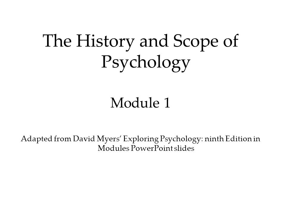exploring psychology module 9th edition Find 9781464108419 exploring psychology in modules 9th edition by myers at  over 30 bookstores buy, rent or sell.