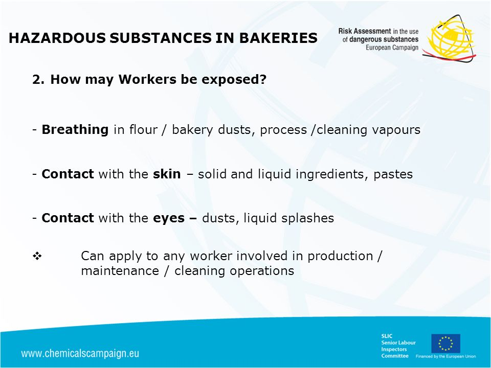HAZARDOUS SUBSTANCES IN BAKERIES