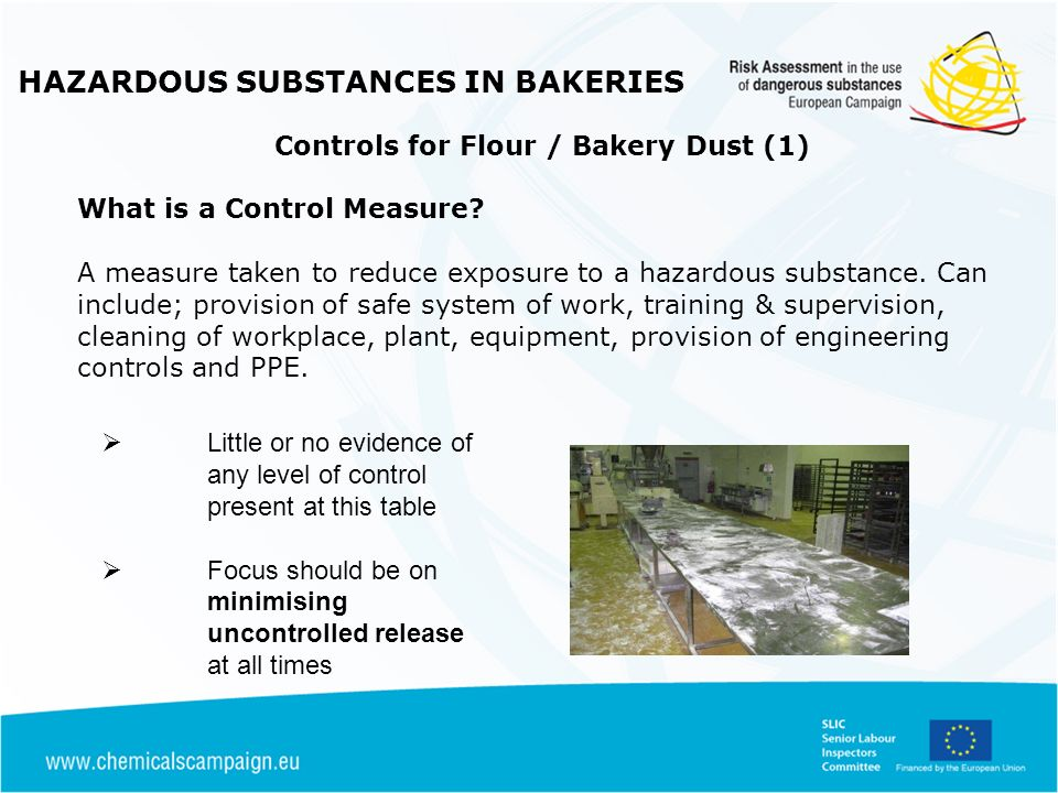 HAZARDOUS SUBSTANCES IN BAKERIES Controls for Flour / Bakery Dust (1)